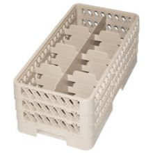 Traex HR1B1BB Beige 8 Compartment Half Size Cup Rack with 3 Extenders