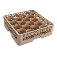 Traex® TR11G Beige 20 Compartment Glass Rack with Extender