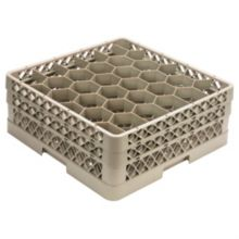 Traex® TR12HH Beige 30 Compartment Glass Rack With 2 Extenders