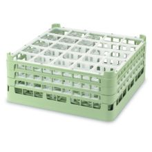 Vollrath 5277311 Light Green Medium Plus 25 Compartment Glass Rack