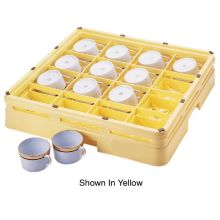Beige 16-Compartment Cup Rack, 19-3/4 x 19-3/4 x 4-3/8
