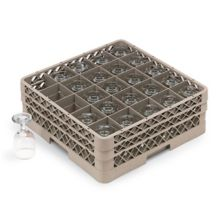 Traex® TR6BB Beige 25 Compartment Glass Rack with 2 Extenders