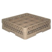 Traex® TR8D Beige 16 Compartment Glass Rack with 1 Extender