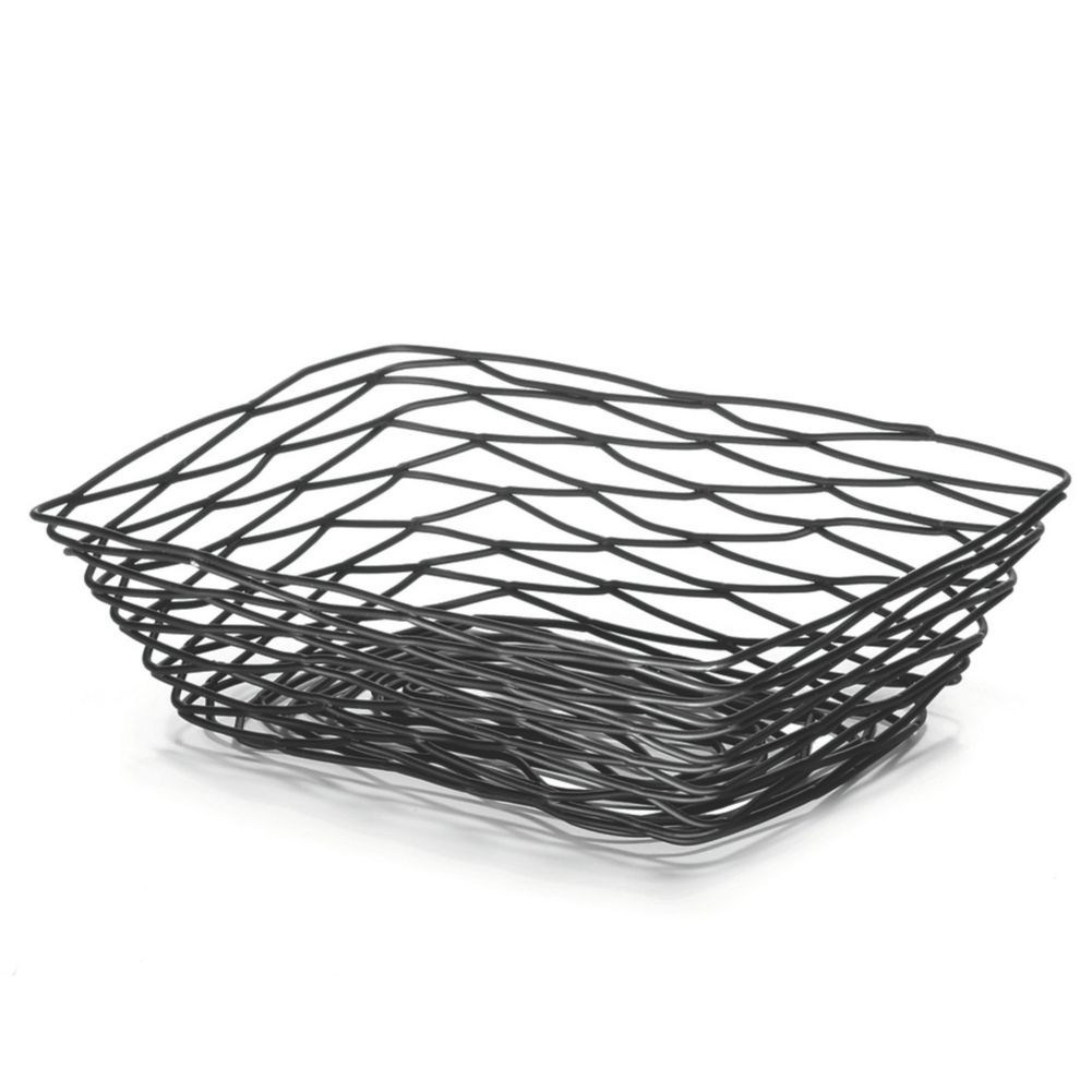 TableCraft BK17212 Artisan Collection Black Metal Rectangular Basket