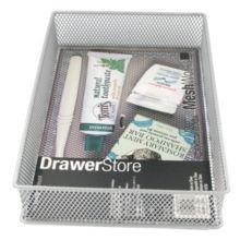 """Design Ideas DrawerStore™ 6""""x9"""" Silver Mesh Basket"""