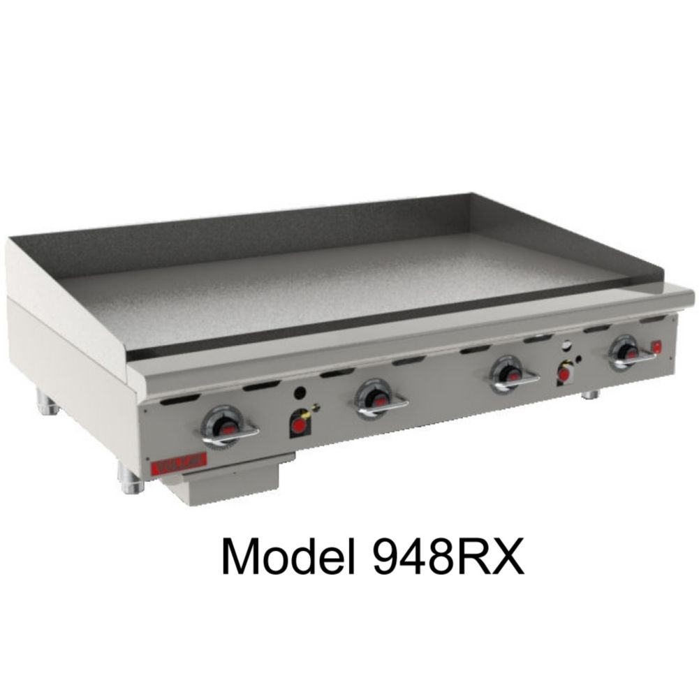 "Vulcan 960RX 900RX Series 60"" Natural Gas Griddle"