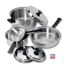 Regalware® K0351 Stainless Steel 7-Piece 3-Ply Cookware - Set