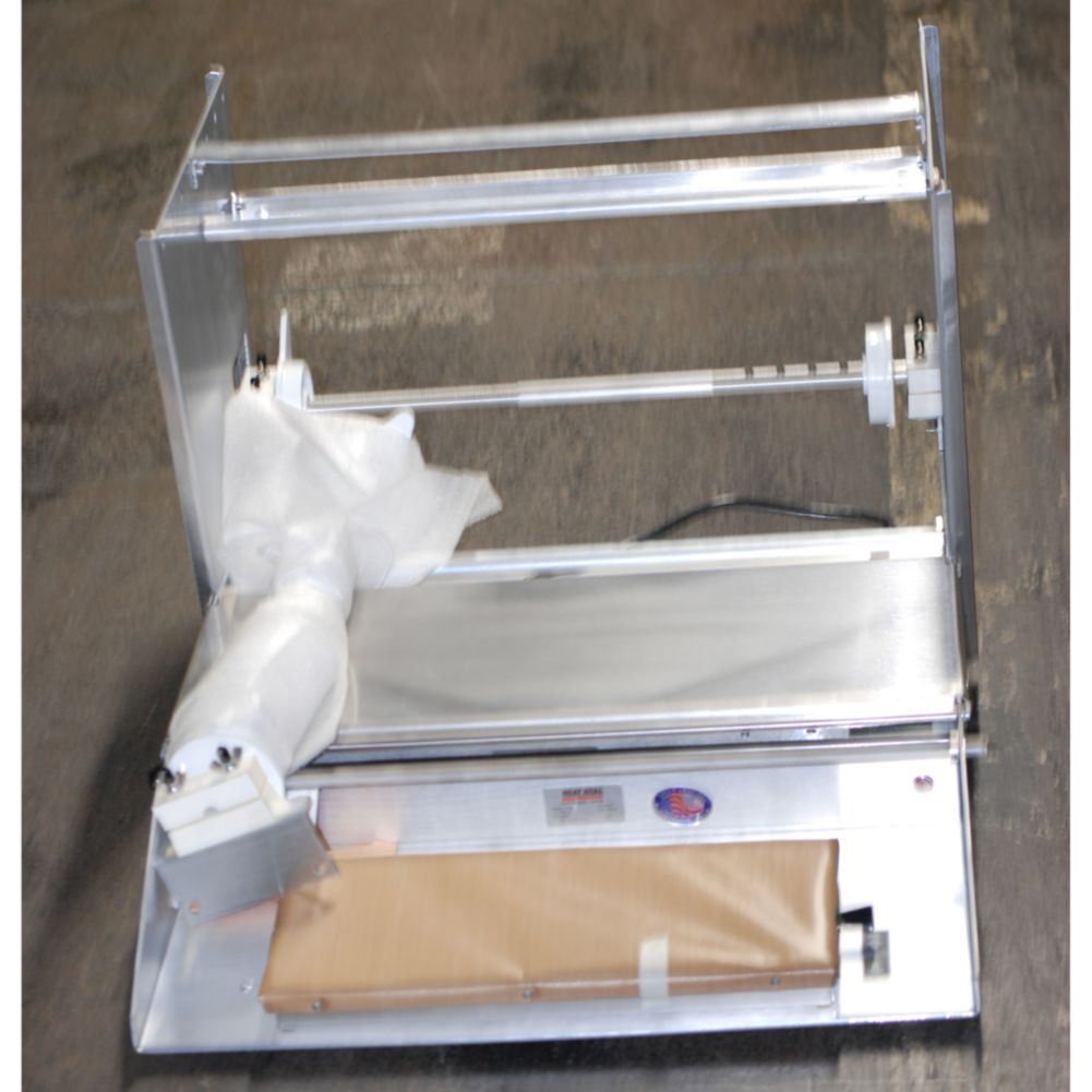 Heat Seal 825AT 2-Roll Wrapper w/ Automatic Timer and 14 Gauge Bridge