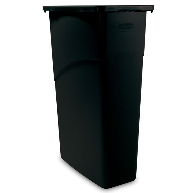 Rubbermaid FG354099BLA Slim Jim Black 23 Gallon Waste Container