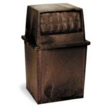 Continental 5735BN King Kan Brown Fire Resistant 35 Gal Receptacle