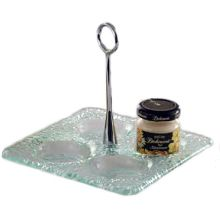 "Culinaire GL-01 6"" Square Jelly Jar Display"