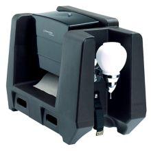 Cambro® HWATD110 Black Handwash Station with Paper Towel Dispenser