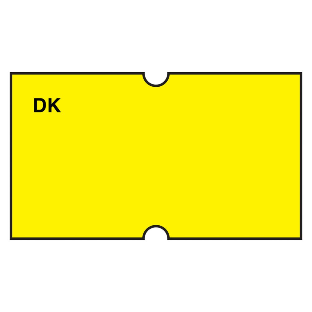 DayMark 110430 Blank Yellow Label For DM-3 Label Gun - 1000 / RL