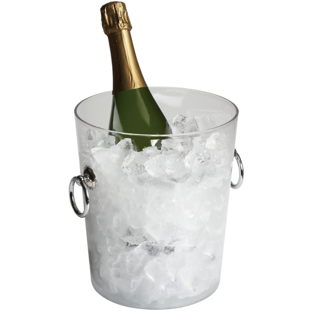 Cambro® WC100CW135 Clear Camwear® Wine Bucket with Handles
