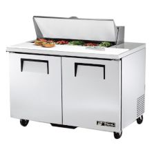 True TSSU-48-10 2-Door 10-Pan 12 Cu Ft S/S Sandwich / Salad Prep Table