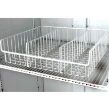 True® 832056 White Wire Novelty Basket With 3 Dividers