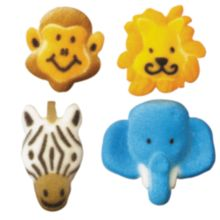 Lucks™ 43049 Dec-Ons® Jungle Animal Assortment - 128 / BX