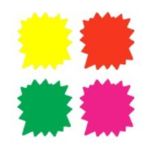 "Ready Flow 6003-RNB Ultra Glo 4"" Starburst Sign Cards - 100 / PK"