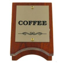 Classic Hotel Woodwork COSG Wood And Brass 3-1/2 x 2-1/2 Coffee Sign