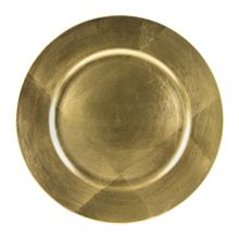 "Ten Strawberry Street LAG-24 Gold Lacquer 13"" Round Charger Plate"