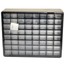 Ateco 8764 Storage Box with 64 Drawers for Bakery Tubes with Stickers