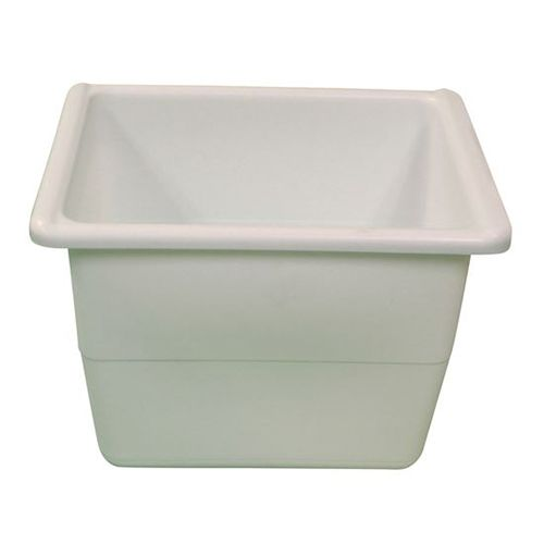 "AyrKing B-304 White 9-1/2"" x 13"" Dough Ball Pan"