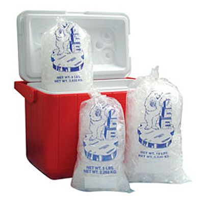 Fortune Plastics IC10W Clear 10 Lb. Ice Bag - 1000 / CS