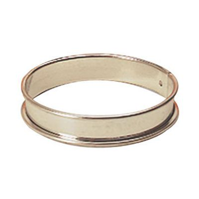 "Matfer Bourgeat 371609 S/S 4-3/4"" x 3/4"" Plain Tart Ring"