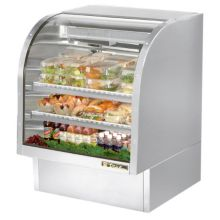 True® TCGG-36-S S/S 17 Cu Ft Curved Glass Refrigerated Deli Case