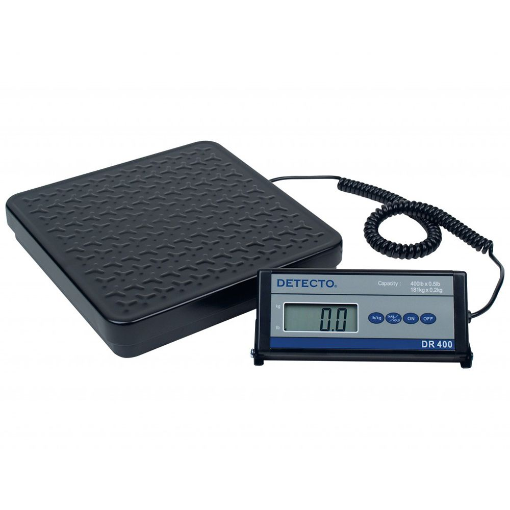 Detecto DR400 Low Profile 400 Lb. Platform Scale with Remote Display