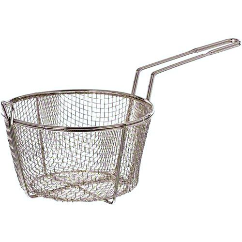 "Update International FB-8 8.5"" Round Wire Fry Basket"