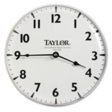 "Taylor® Precision 166 Brushed Silver 12"" Patio Clock"