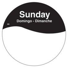 "DayMark 1101087 MoveMark Trilingual 3"" Sunday Day Circle - 500 / RL"