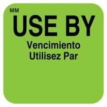 "DayMark 112432 MoveMark Square Green 1"" Use By Label - 1000 / RL"