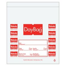 """DayMark 113015 5.5"""" Day Of The Week Wednesday Portion Bag - 2000 / BX"""
