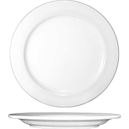 "International Tableware DO-16 White Porcelain 10.5"" Plate - 12 / CS"