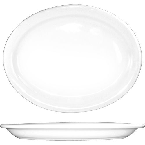 "International Tableware BR-14 Brighton White 13.25"" Platter - 12 / CS"
