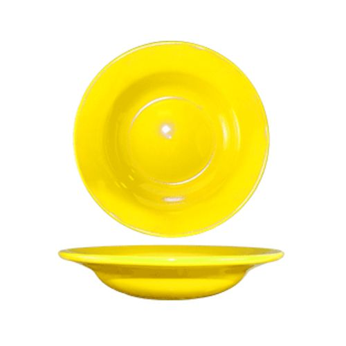 International Tableware CA-3-YR Yellow 12 Oz Deep Soup Bowl - 24 / CS