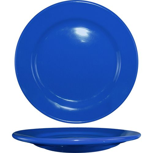 "International Tableware CA-16-LB Light Blue RE 10.25"" Plate - 12 / CS"