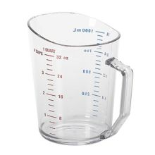 Cambro® 100MCCW135 Camwear® Clear 1 Qt. Measuring Cup