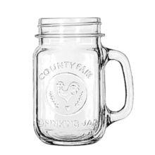 Libbey® 97085 Glass 16.5 Ounce County Fair Drinking Jar - 12 / CS