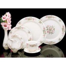 Homer Laughlin 3971138 Pink Violets 19.25 Oz Pasta Bowl - 12 / CS