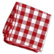 "Tablecloth Co. 20X20 CHECK Red & White 20"" Checked Napkin - Dozen"