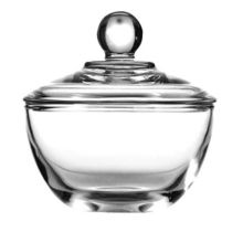 Anchor Hocking 64192B Presence 8 oz Glass Sugar Dish w/ Cover - 4 / CS