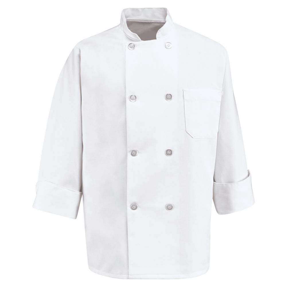 VF Imagewear 0403WH-LN-L White Double Breasted Chef Coat