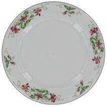 """Homer Laughlin 3691138 Seville Pink Violets 9"""" Plate - 24 / CS"""