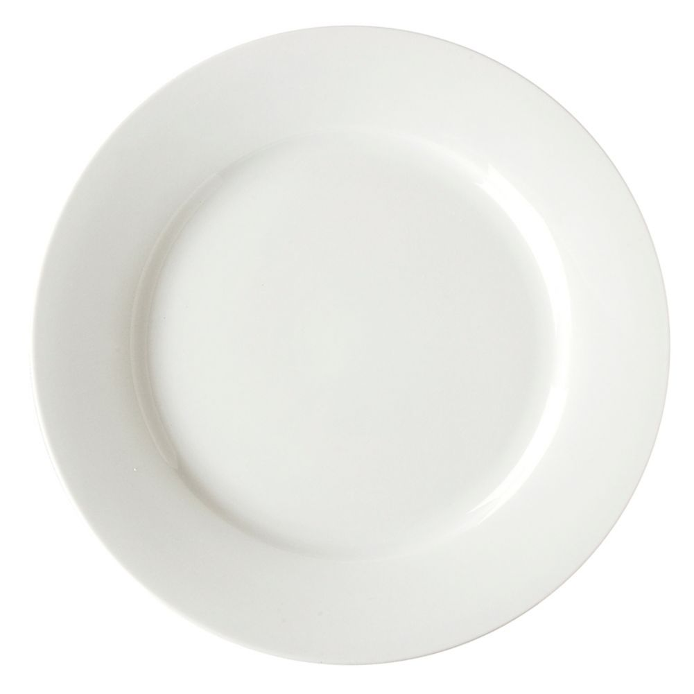 "Vertex® China ARG-16 Argyle 10.25"" White Plate - 12 / CS"