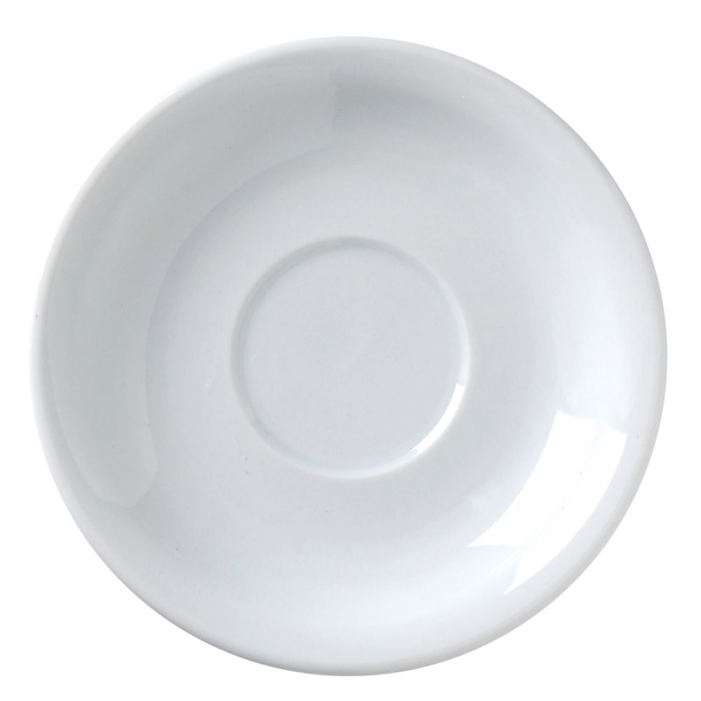 "Vertex® China ARG-2 Argyle 6"" White Saucer - 36 / CS"