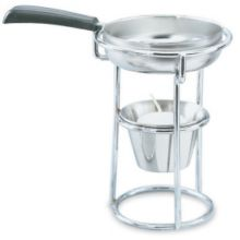 Vollrath 46770 5 Ounce Butter Melter with Pan And Chrome Plated Stand