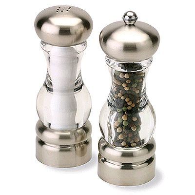 Olde Thompson 3521-40-0-0 Del Norte Pepper Mill / Salt Shaker Set